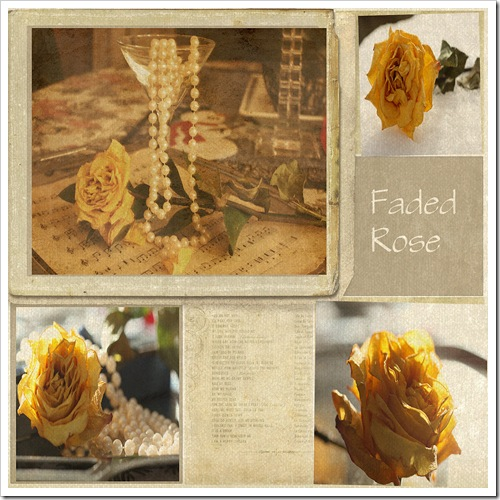 Faded Rose on Kristys collage template