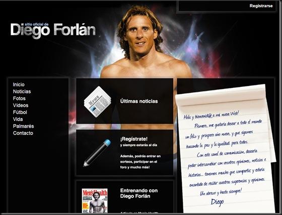 Web Diego Forlán -- cuydm