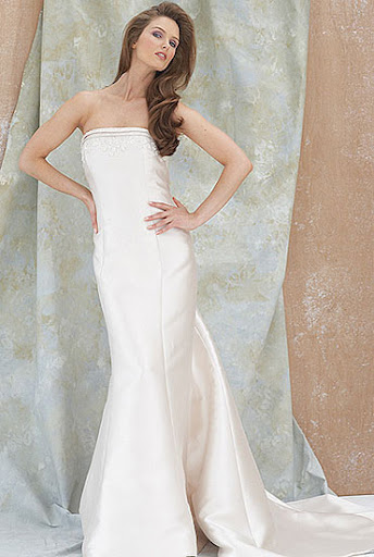 Strapless Wedding Dress Bridal Gown