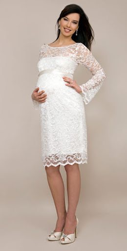 Short Maternity Bridesmaid Gown