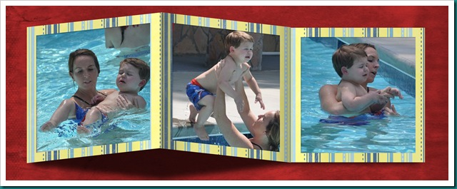 Sam's first swim lesson page 3 with red