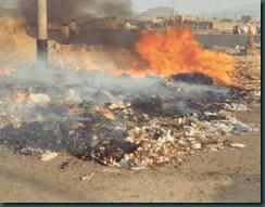quema de basura