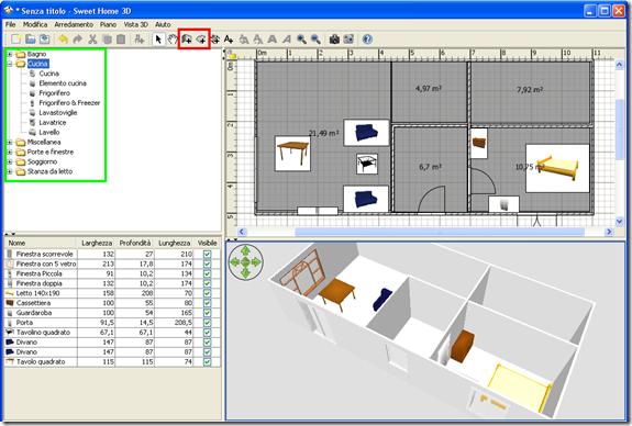 Mobili lavelli programma disegnare piantina casa for Disegnare online 3d