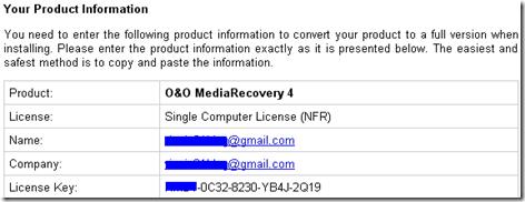 MediaRecovery 4 License Key