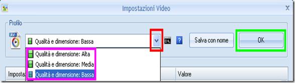 Ridurre le dimensioni di un video