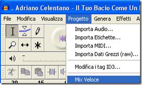 Mixare più file audio in uno