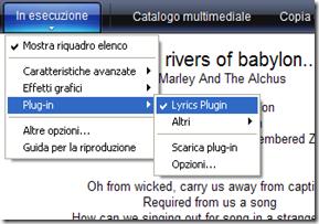 Vedere i testi delle canzoni su Windows Media Player