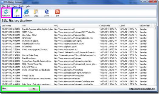 URL History Explorer
