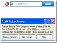 Disinstallare la toolbar di Ask dal PC con Ask Toolbar Remover