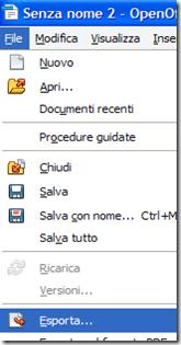 Creare PDF con OpenOffice Writer