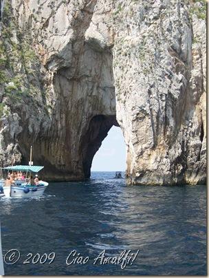 Ciao Amalfi Coast Blog Capri Going through Faraglioni