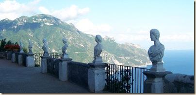 Ciao Amalfi coast Blog Villa Cimbrone view