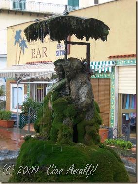 Ciao Amalfi Coast Blog Rain Fountain