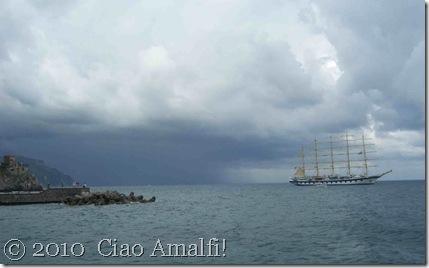 Ciao Amalfi Coast Blog Royal Clipper Storm