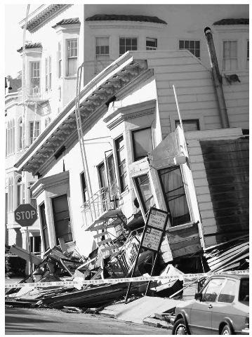 Earthquake damage in California.
