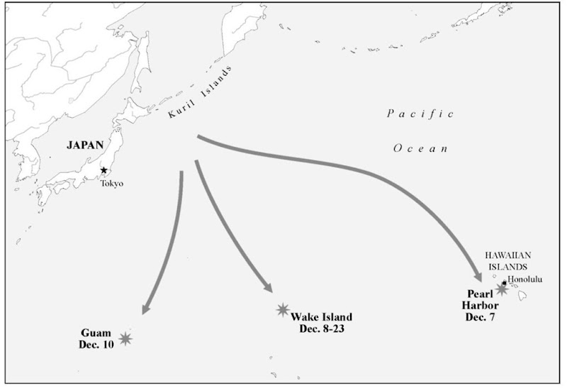 Japanese Attacks on Pearl Harbor and the Central Pacific, December, 1941