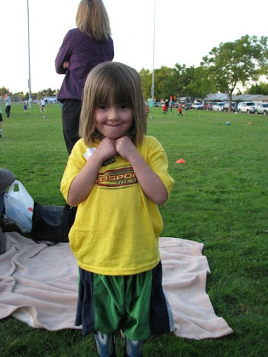 The soccer star. She told me she was brave. Of course this was after the