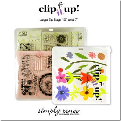 Clip It Up Large Zip Bags