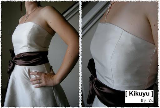 robe mariage soeur bustier