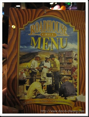 Roadhouse Grill's menu