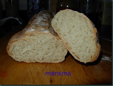 barra de pan rústica, ración