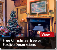 Free Christmas Tree or Decorations with Cottage Holidays UK