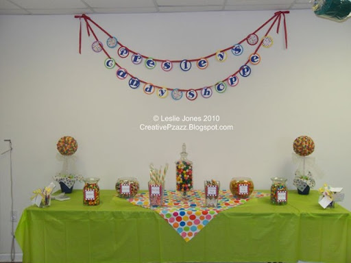 candy buffet table. the candy buffet table as