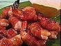 Bourbon-Brown Sugar-Glazed, Bacon-Wrapped Shrimp