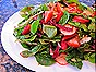 Salad with Strawberries, Radishes, Almonds & Strawberry-Balsamic Vinaigrette