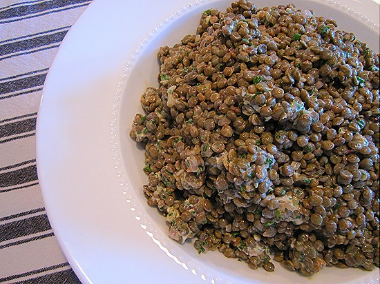 Lentil-Goat Cheese Salad