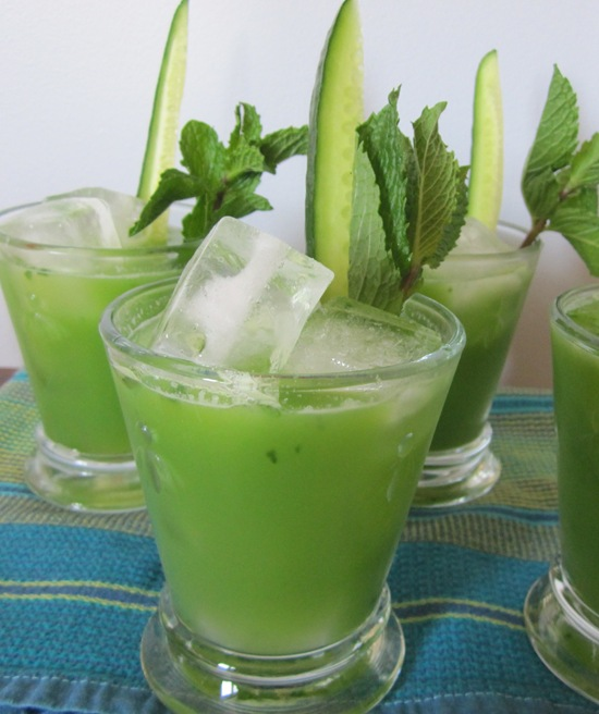 Cucumber-Lime-Mint Cocktails