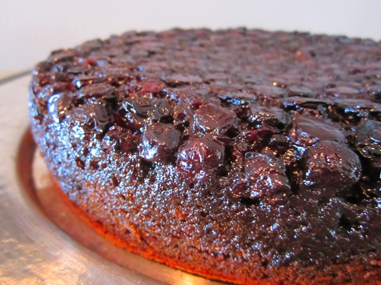 Blueberry Gingerbread Upside-Down Cake