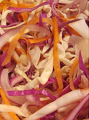 Shredded Cabbages & Carrots