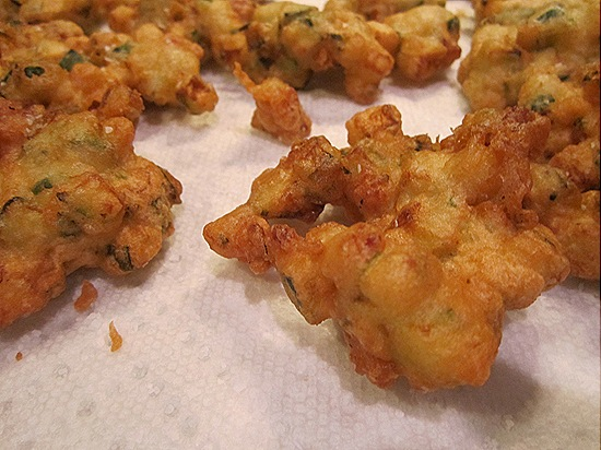 Zucchini-Bacon Fritters