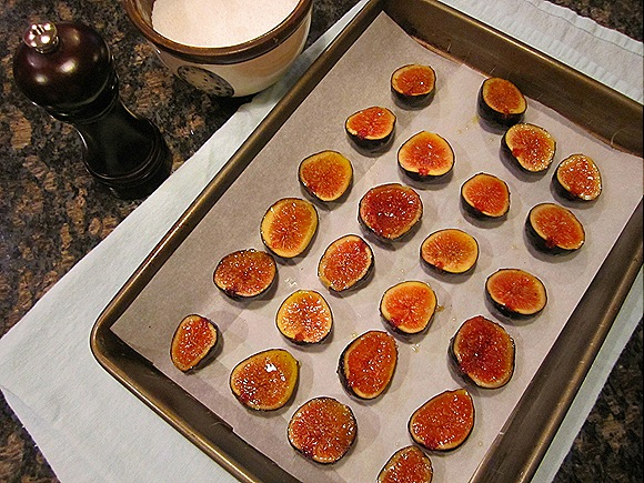 Sliced Figs, Ready for Roasting