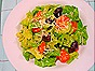 Romaine Salad with Carrots, Celery, Kalamatas & Creamy Parmesan Vinaigrette