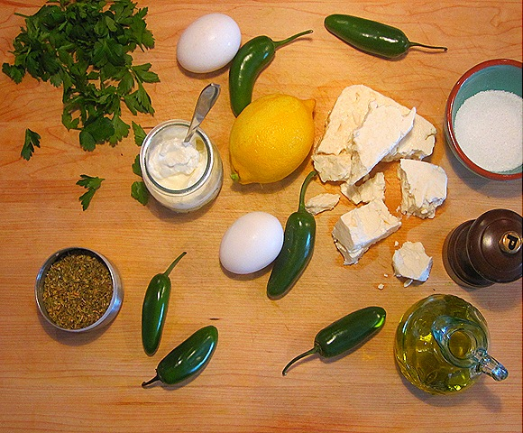 Ingredients for Feta-Stuffed Peppers