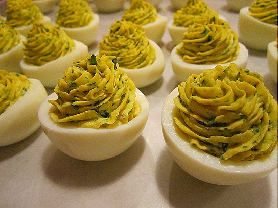 Fines Herbs Deviled Eggs