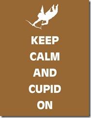 Keep Calm Cupid Tan