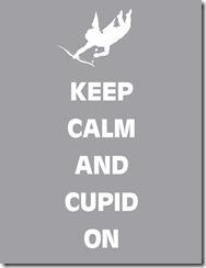 Keep Calm Cupid Gray