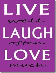 LiveLoveLaugh Purple