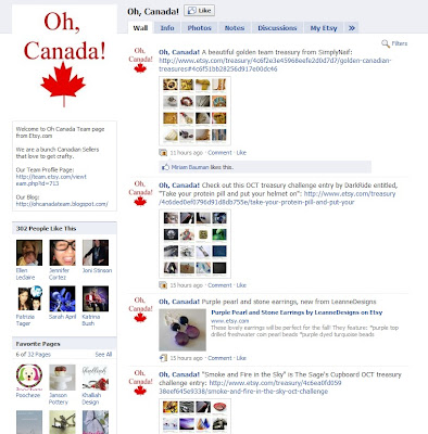 Oh Canada Team on Facebook