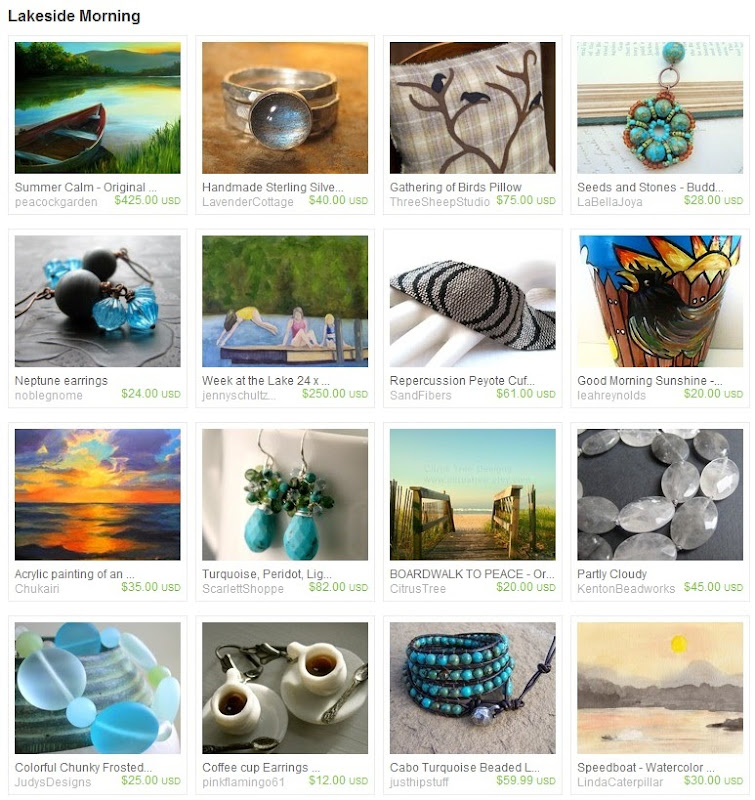 Etsy Treasury: Lakeside Morning