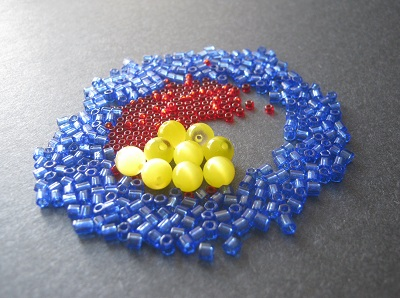 Red Yellow Blue Bead Palette