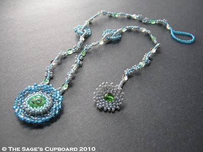 Rainy Day Peridot Green Necklace