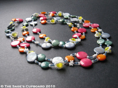 Rainbow Candy Chain Necklace by The Sage's Cupboard