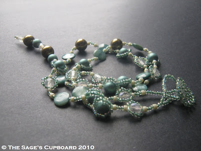 Pistachio Cream Necklace by The Sage's Cupboard