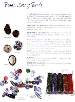 Beads for Micro-Macrame Jewelry by Annika deGroot