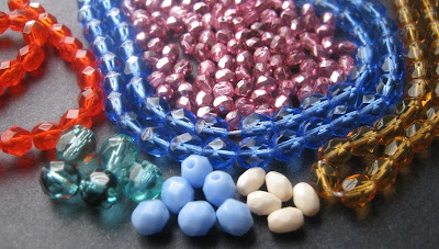 Assorted Czech Fire Polish Beads