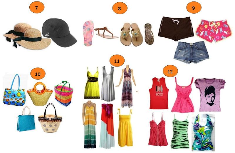Itens para a moda Praia